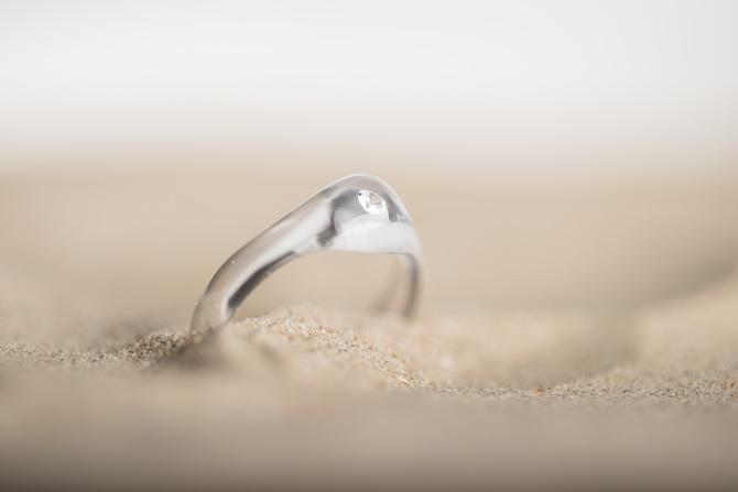 Diamantring in 3D-Druck von bza