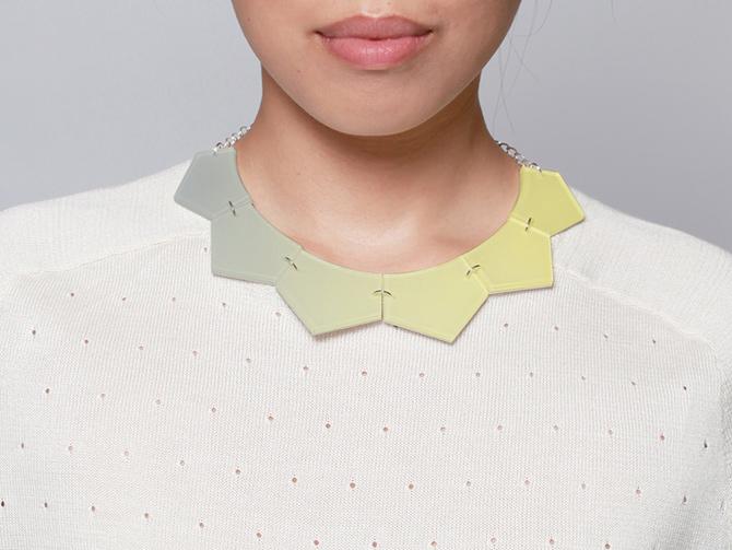 Acryl-Kette in Kragenform mit Farbverlauf von Inca Starzinsky