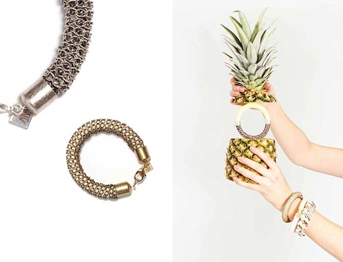 Metall- und Kordel-Armreife von SMJD (Sarah Mesritz Jewellery Design)