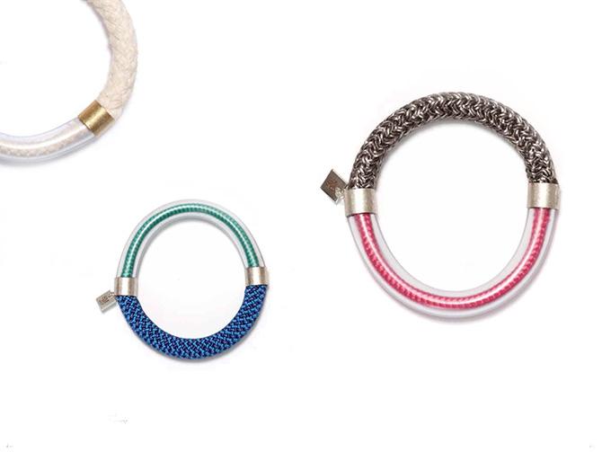 Bunte Kordel-Armreifen von SMJD (Sarah Mesritz Jewellery Design)
