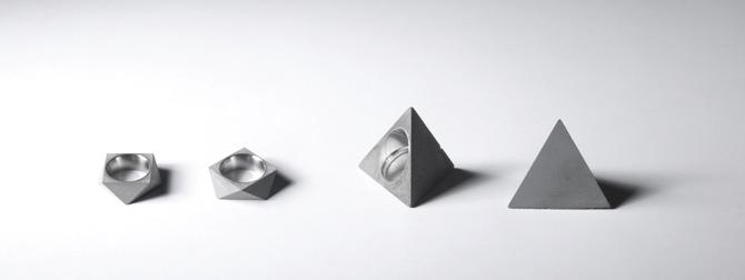 Beton Ringe eckig von 22 Design Studio