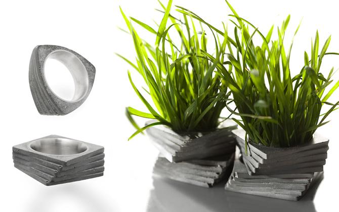 Beton Schmuck von 22 Design Studio Taipei