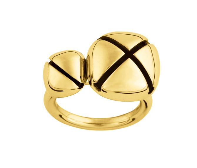 Ina Beissner Ring Peony gold plattiertes silber