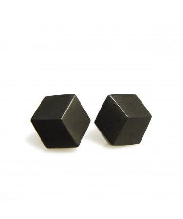 Geometrische Ohrringe schwarz von Pictofactum