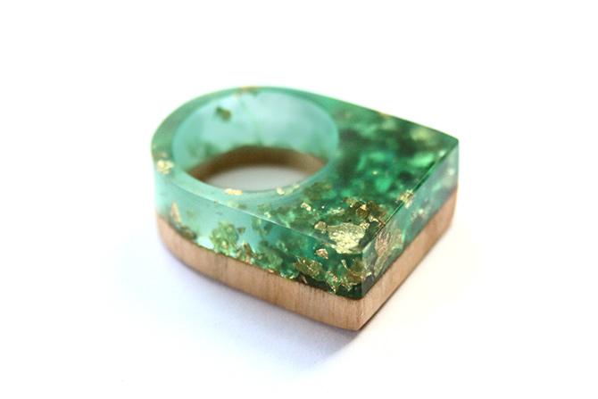 Harz Ring von BoldB mit Gold
