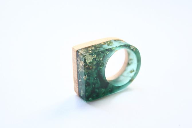 Holz und Harz Ring von BoldB