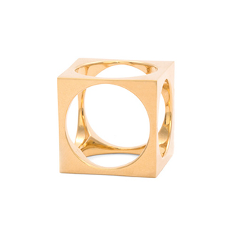 Kelly Wearstler, Cubus-Ring gold