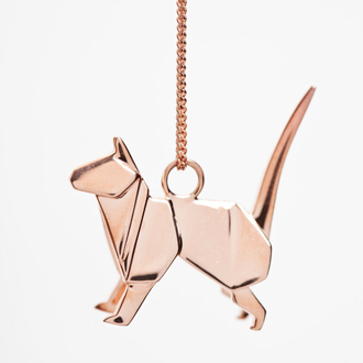 Katzenanhänger von Origami Jewellery