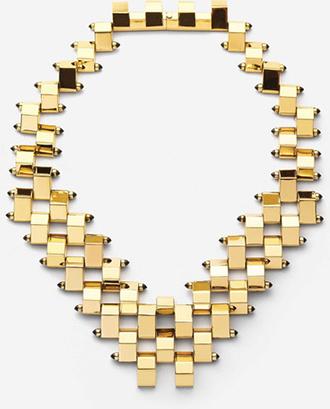 Halskette gold mit Edelsteinen von W.BRITT
