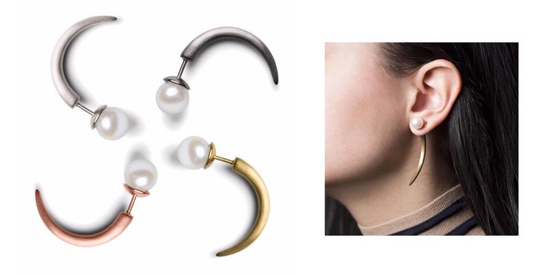 Horn Ohrringe von Jane Konig