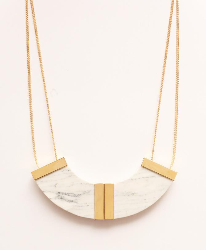 Halbkreis Marmor-Kette von Marion Vidal