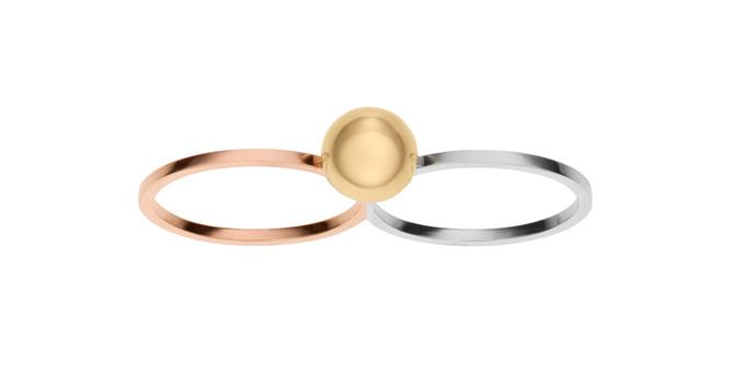 Doppel Ring mit Perle von Sophie Bille Brahe