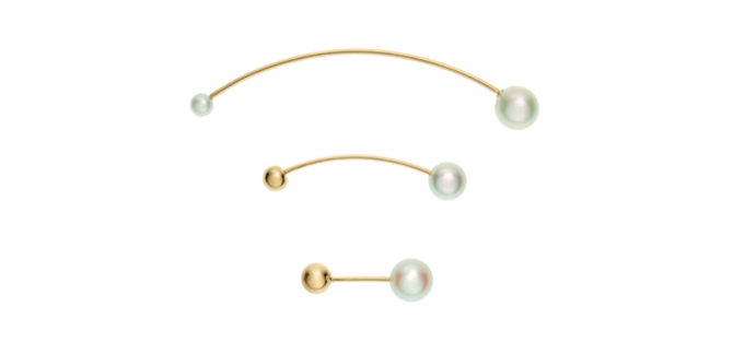 Perlenohrringe mit weißen Perlen Sophie Bille Brahe