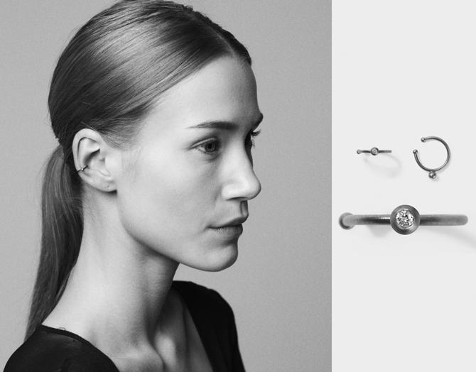 Earhook Ohrring von Line Jo